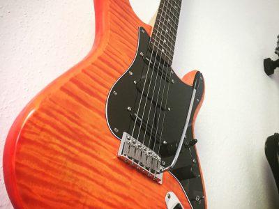 Orange flamed Stratocaster Custom Shop JTAR